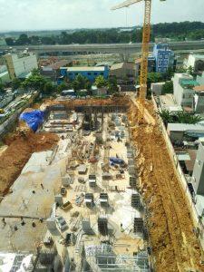 tiến độ xây dựng bcons miền đông