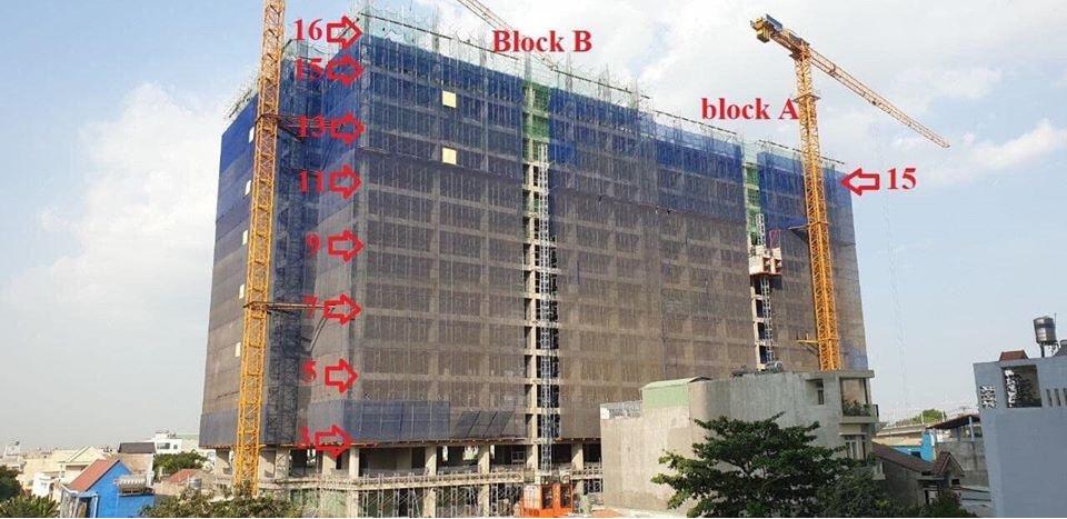 Tiến độ xây Bcons Miền Đông dựng tháng 3.2020