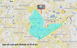 vị trí dự án bcons green view
