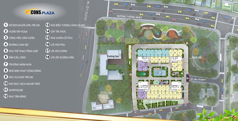 Hệ thống tiện ích căn hộ Bcons Plaza